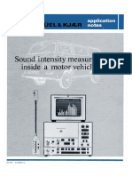 Application Notes - Sound Intensity Measurements Inside a Motor Vehicle (Bo0019)