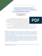 2010_1 - La evaluación del desarrollo de la competencia léxica en L2 por medio de la disponibilidad léxica.pdf