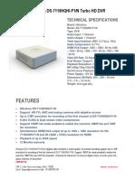 Hikvision DS-7116HQHI-F1-N Turbo HD DVR,Hikvision 16 Channel Dvr -Securekart