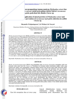 [Jurnal 2012]Lama Pemberian Pakan Mengandung Tepung Meniran Dan Bawang Putih Untuk Mencegah Infeksi Bakteri Aeromonas Pada Ikan Lele Dumbo