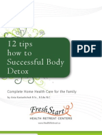 12 Tips For Successful Body Detox - FreshStart