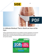A4-Minute Workout That isWorth anHour atthe Gym