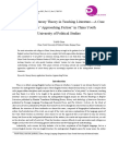 """CHUN, Yang. Application of Literary Theory in Teaching Literature—a Case Study From """"Approaching Fiction"""" in China Youth University of Political Studies"""