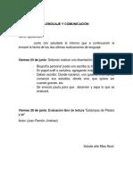 Evaluaciones Lenguaje y Comunicación 4to