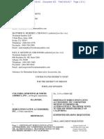 Columbia Sportswear v. Seirus - Motion to Dismiss per TC Heartland