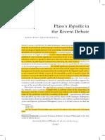 Platos Republic in the Recent Debate