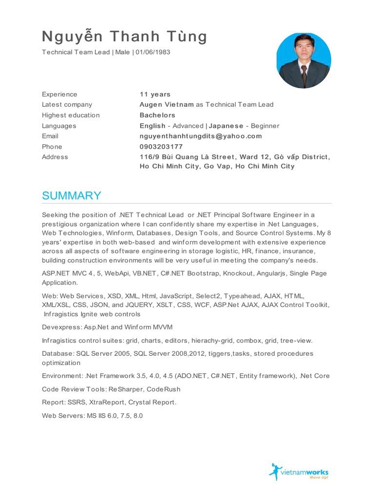 Nguyễn_Thanh_Tùng_CV | Ajax (Programming) | J Query
