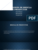 Decisiones de Mezcla de Productos