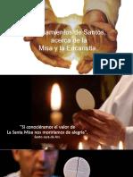 La Eucaristía según los Santos.pps