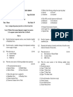 BDS FIRST PROFESSIONAL EXAM QUESTION PAPER 2008-2009 - TEERTHANKER MAHAVEER DENTAL COLLEGE