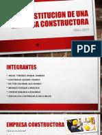 Constitución de Una Constructora Final