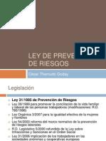 Prevención de Riesgos Laborales. Ley 31/1995. Ley 54/2003