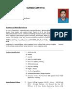 Anishad A A  CV