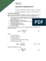 PCA 04 Friccion en Tuberia Recta