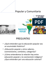 Educacion Popular Comunitaria