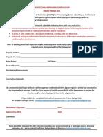 pshoa architectural improvement  application  arc application