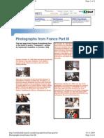 Objavljena Knjiga u Francuskoj 1998 i Promotivna Turneja Treci Dio