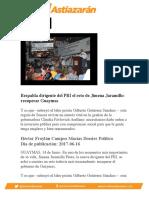 Respalda dirigente del PRI el reto de Jimena Jaramillo