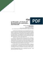 Axel Honeth - Entrevista - Teoria do Reconhecimento em Educação