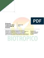 Protocolo Para Evaluación de Insumos BTPT002v02