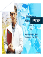 Pharmacy Management Lecture 10