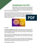 Obat Untuk Menghilangkan Virus HPV