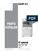 Canon Dadf-u1 Parts Manual