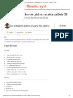 Falafel Com Molho de Tahine_ Receita Da Bela Gil - Bela Cozinha - Programas - GNT