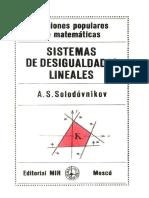 Sistemas de Desigualdades Lineales - Solodovnikov