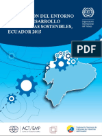 Estudio de Entorno de Sostenibilidad Para Empresas Ecuador