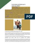 Las Migraciones Internas y Externas en El Peru