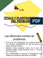 Titulo y Planteamiento Del Problema