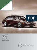 2012 E Class Sedan and Wagon