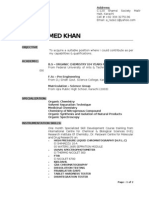 Cv - Raza Ahmed Khan