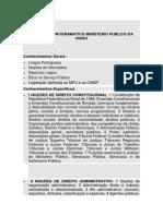 Conteudo Programatico Ministerio Publico Da União