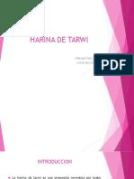 Harina de Tarwi