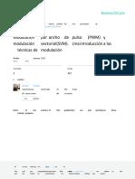 Modulacion Por Ancho de Pulso PWM y Modulacion Vec