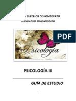 Psicología III  Guía