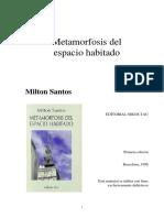 Milton Santos Metamorfosis del espacio habitado.