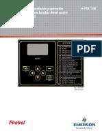 Instrucciones de instalación y operación panel de control