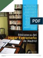 Biblioteca del Hogar Extremeño de Madrid en revista Mi Biblioteca nº 11/2007