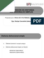 5 TTo Disfonía Disfuncional Simple UPV