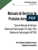 Manuais de Serviços de Produtos Aeronáuticos