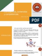Lección 2.3 Los Objetivos, Contenidos y Competencias.