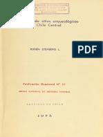 STEHBERG, Rubén Diccionario de sitios arqueológicos de Chile Central