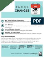 Metro Fare Changes
