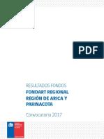 Resultados Fondart Regional 2017