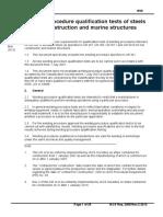 UR W28 Welding Procedure Qualification Tests of Steels(Rev.2 Mar 2012)