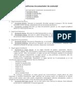 Clasificarea Documentelor de Evidență
