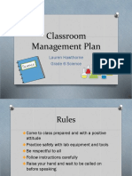 edu 299 classroom management plan